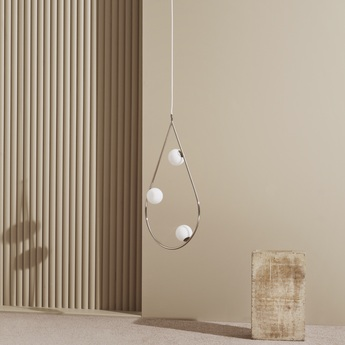 Suspension pearls 80 laiton l47cm h80cm pholc normal