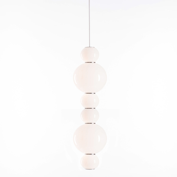 Suspension pearls double a chrome led o18cm h67cm formagenda normal