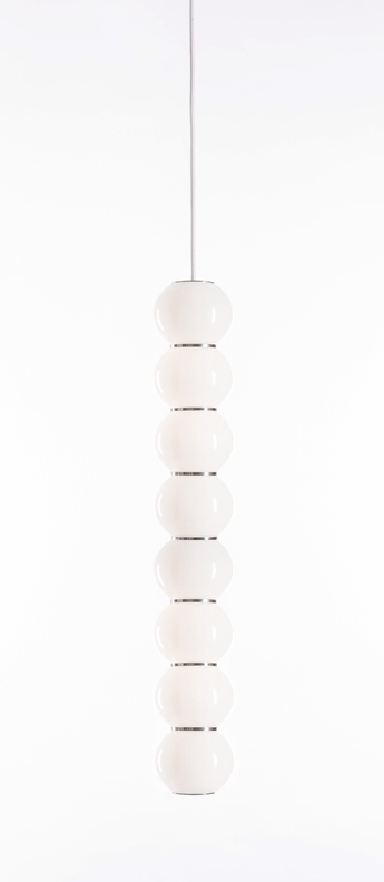 Suspension pearls double b chrome led o10cm h67cm formagenda normal