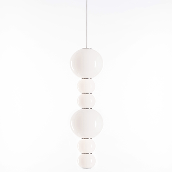 Suspension pearls double c chrome led o18cm h67cm formagenda normal