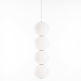 Suspension pearls double e chrome led o18cm h67cm formagenda normal