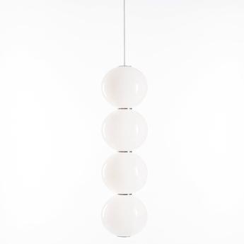 Suspension pearls double e chrome led o18cm h67cm formagenda normal