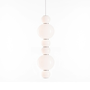 Suspension pearls double f 1200 lm 2700 k or led o18cm h67cm formagenda normal