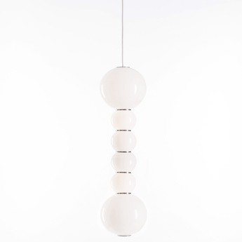 Suspension pearls double f chrome led o18cm h67cm formagenda normal