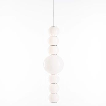 Suspension pearls double g chrome led o18cm h67cm formagenda normal