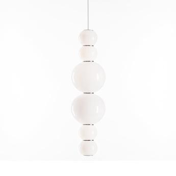 Suspension pearls double h 1200 lm 2700 k or led o18cm h67cm formagenda normal