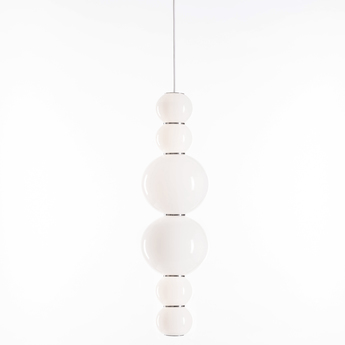 Suspension pearls double h chrome led o18cm h67cm formagenda normal