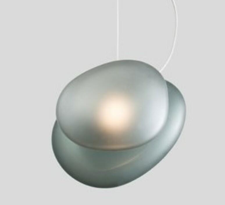 Pebble a slate c slate lukas peet suspension pendant light  andlight a sl c sl  design signed nedgis 88349 product