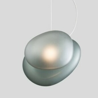 Suspension pebble a slate c slate bleu led dimmable 2700k l21cm h30 5cm andlight normal