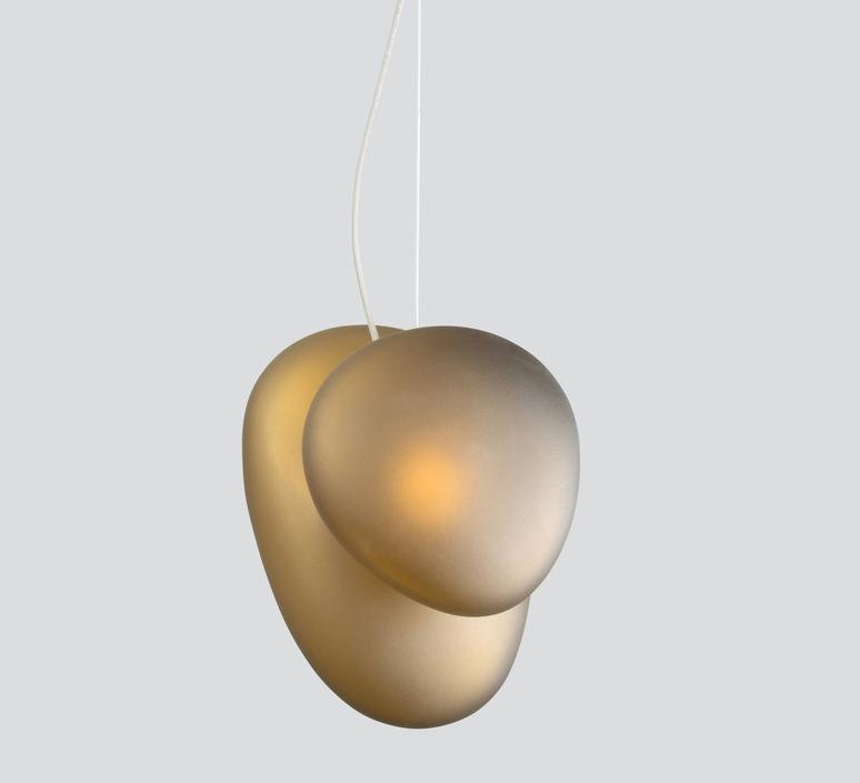 Pebble b citrine c citrine lukas peet suspension pendant light  andlight b ci c ci  design signed nedgis 88269 product
