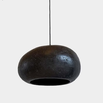Suspension pebble l noir charbon o40cm h23cm ay illuminate normal