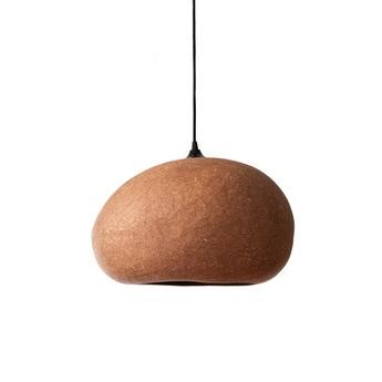 Suspension pebble large terracotta l45cm h36cm ay illuminate normal