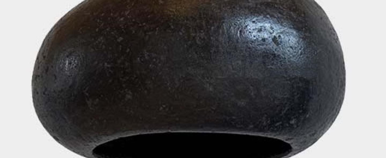 Suspension pebble m noir charbon o30cm h17cm ay illuminate normal