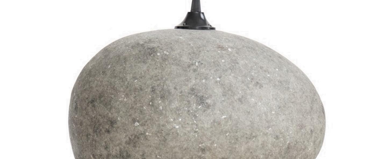 Suspension pebble medium gris l36cm h27cm ay illuminate normal