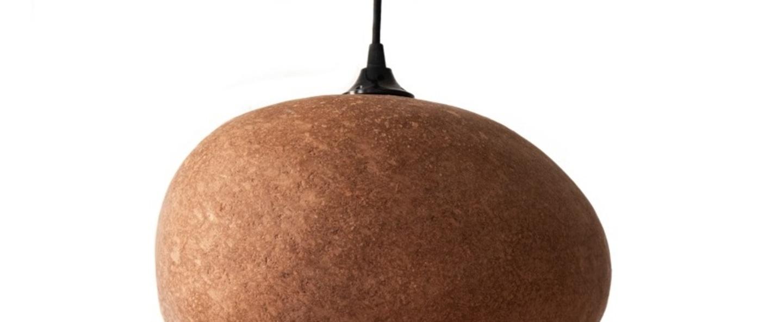 Suspension pebble medium terracotta l36cm h27cm ay illuminate normal