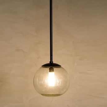 Suspension pendant ball transparent noir o20cm h120cm contain normal