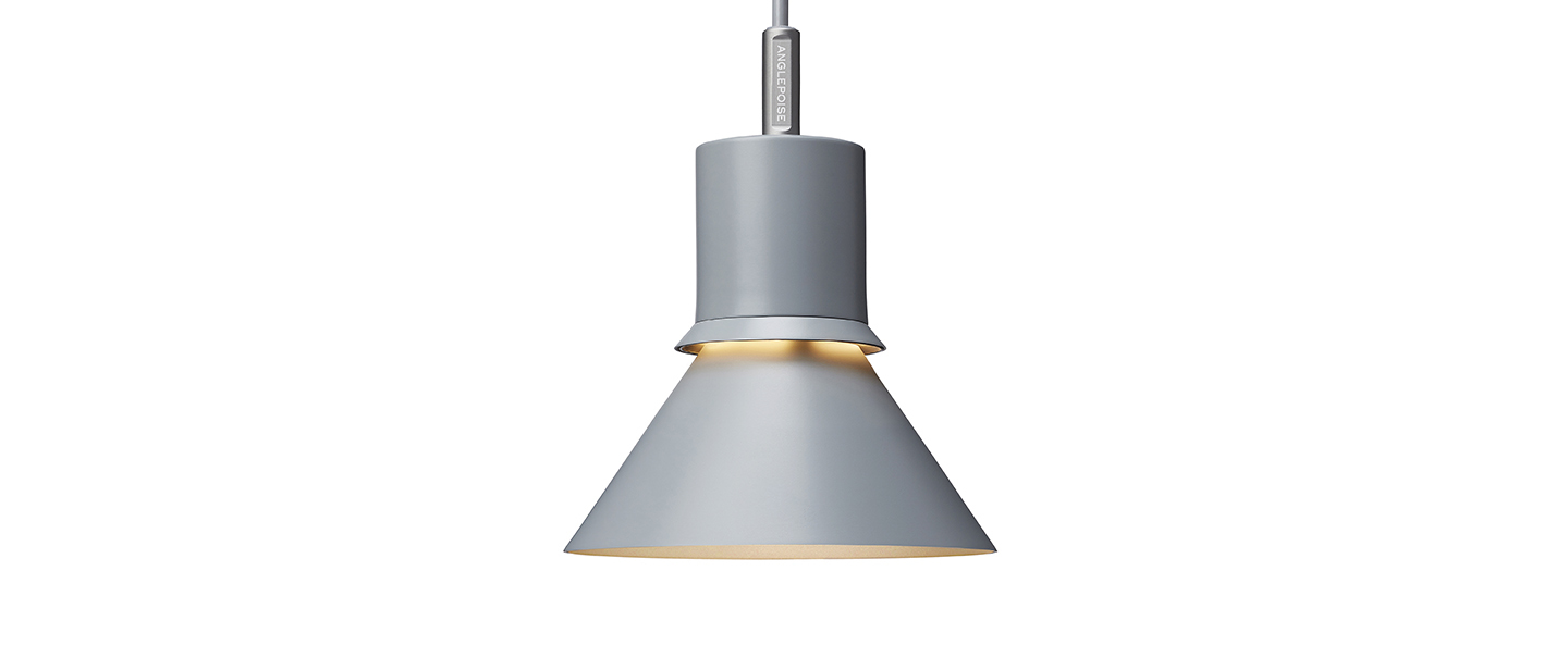 Suspension pendant light type 80 gris clair mat o14 5cm h20 6cm anglepoise normal