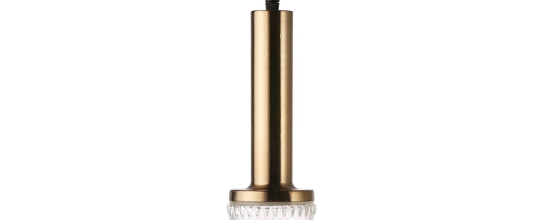 Suspension pendle led dimmable verre laiton o9cm h30cm hk living normal