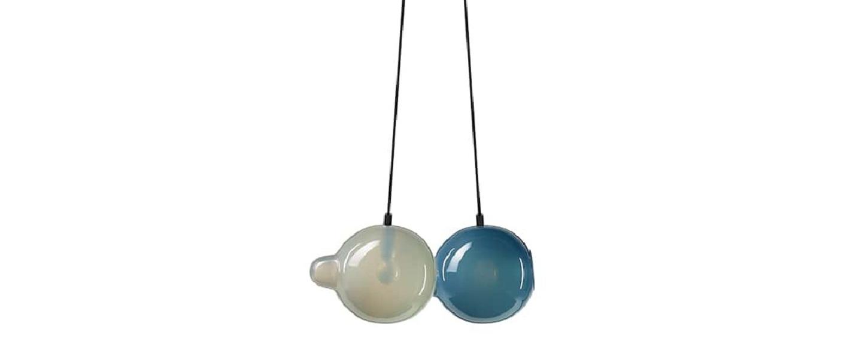 Suspension pendulum 2 gris bleu l21cm h41 5cm bomma normal