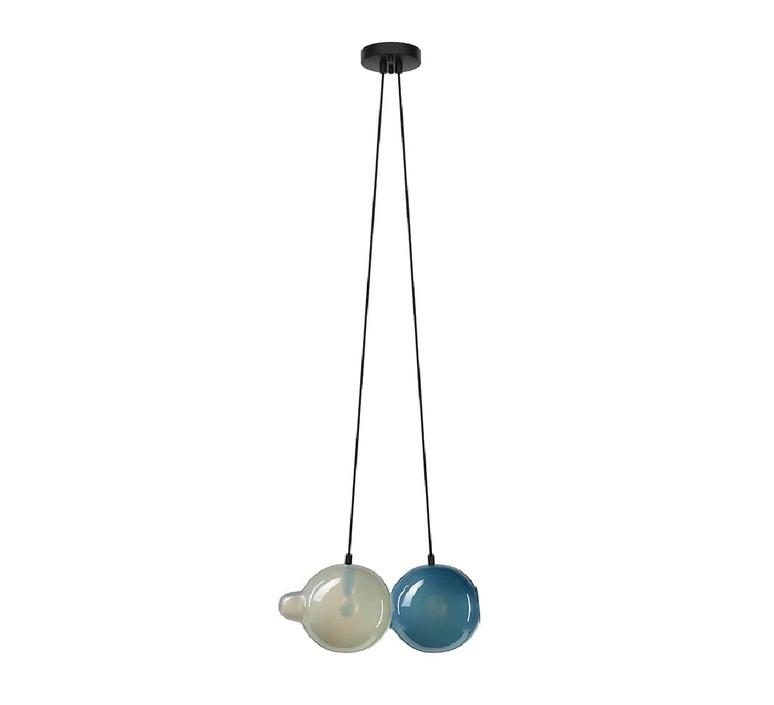 Pendulum 2 studio deform suspension pendant light  bomma pendulum2 1gris 1bleu  design signed nedgis 82964 product