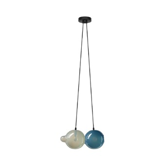 Suspension pendulum 2 gris bleu l21cm h41 5cm bomma normal