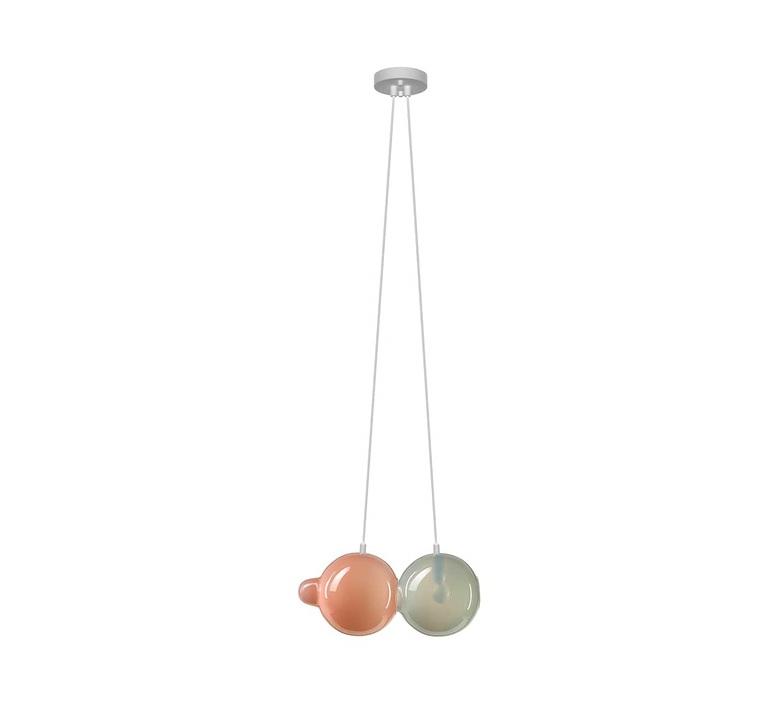 Pendulum 2 studio deform suspension pendant light  bomma pendulum2 1gris 1rose  design signed nedgis 82968 product