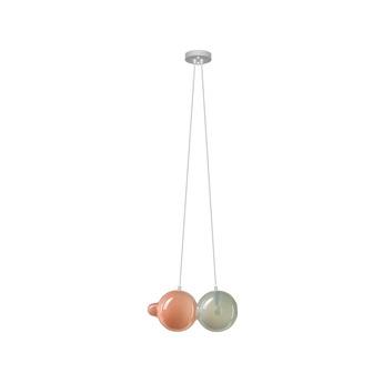 Suspension pendulum 2 gris rose l21cm h41 5cm bomma normal