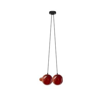 Suspension pendulum 2 rouge fonce l21cm h41 5cm bomma normal