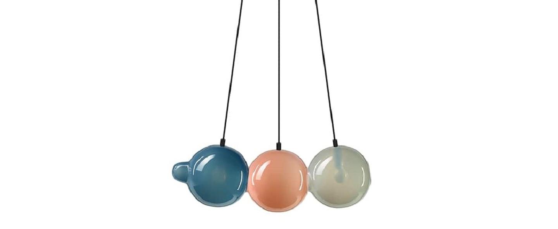 Suspension pendulum 3 bleu rose gris l60cm h21 5cm bomma normal