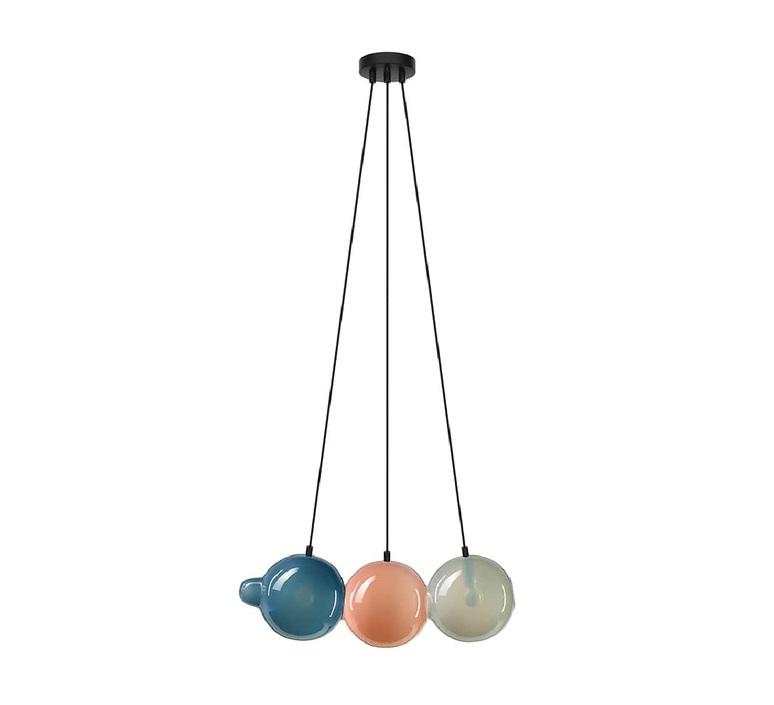 Pendulum 3 studio deform suspension pendant light  bomma pendulum3 1bleu 1rose 1gris  design signed nedgis 82952 product