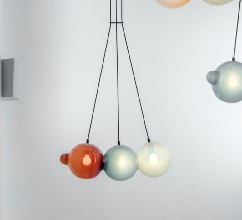 Pendulum 3 studio deform suspension pendant light  bomma pendulum3 1bleu 1rose 1gris  design signed nedgis 83028 product