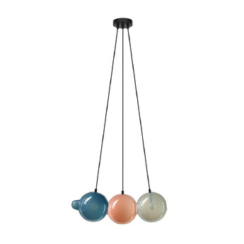 Suspension pendulum 3 bleu rose gris l60cm h21 5cm bomma normal