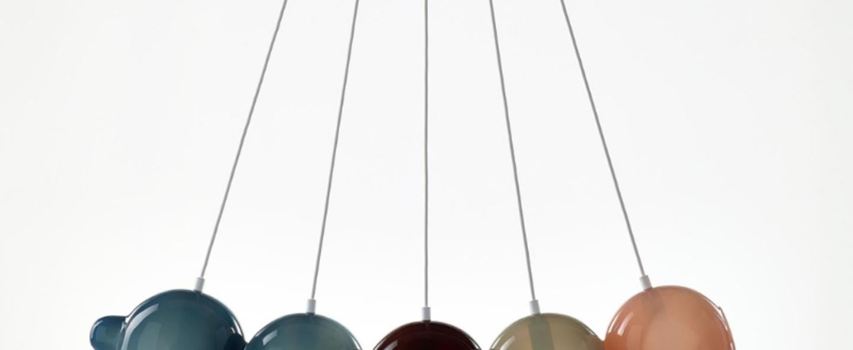 Suspension pendulum 5 bleu rouge gris rose l97cm h24cm bomma normal