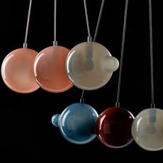 Pendulum 5 studio deform suspension pendant light  bomma pendulum5 2bleu 1rouge 1gris 1rose  design signed nedgis 82936 thumb