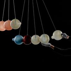 Pendulum 5 studio deform suspension pendant light  bomma pendulum5 2bleu 1rouge 1gris 1rose  design signed nedgis 82937 thumb