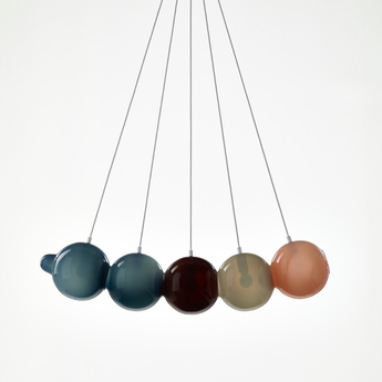 Suspension pendulum 5 bleu rouge gris rose l97cm h24cm bomma normal