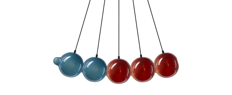 Suspension pendulum 5 bleu rouge l97cm h24cm bomma normal
