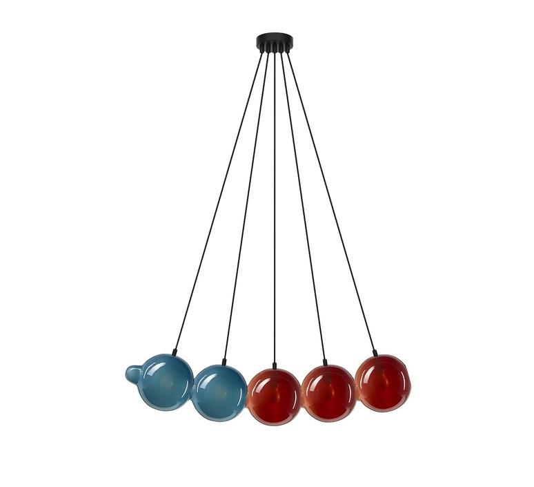 Pendulum 5 studio deform suspension pendant light  bomma pendulum5 2bleu 3rouge  design signed nedgis 82954 product
