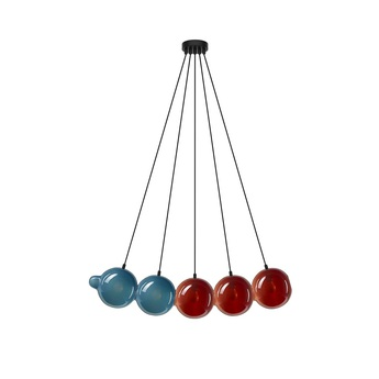 Suspension pendulum 5 bleu rouge l97cm h24cm bomma normal