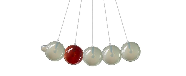 Suspension pendulum 5 gris rouge l97cm h24cm bomma normal