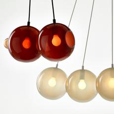 Pendulum 5 studio deform suspension pendant light  bomma pendulum5 4gris 1rouge  design signed nedgis 82960 thumb