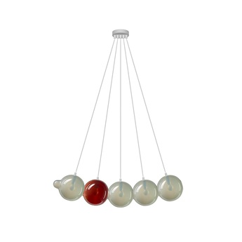 Suspension pendulum 5 gris rouge l97cm h24cm bomma normal