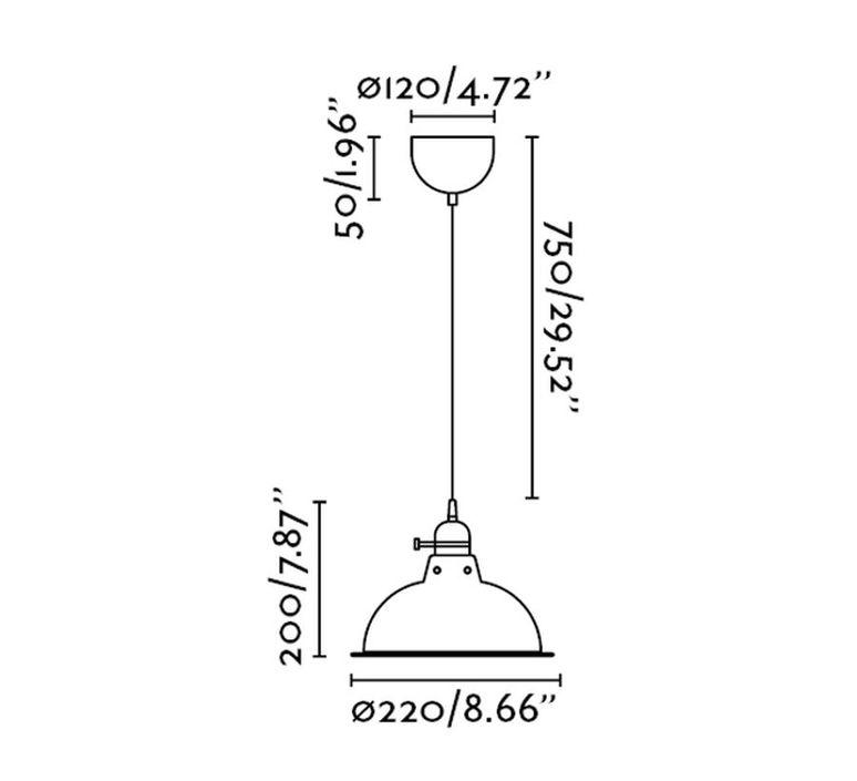 Pepper  suspension pendant light  faro 64166  design signed 38183 product