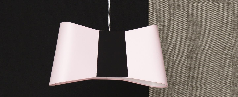 Suspension petit couture rose noir l32cm designheure normal