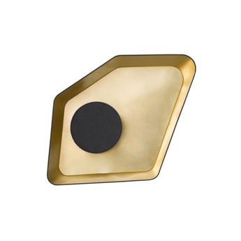 Suspension petit nenuphar led 18w noir or l90cm designheure normal