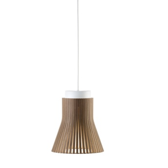Suspension petite 4600 bois marron led 2800k 480lm o20cm h23cm secto design normal