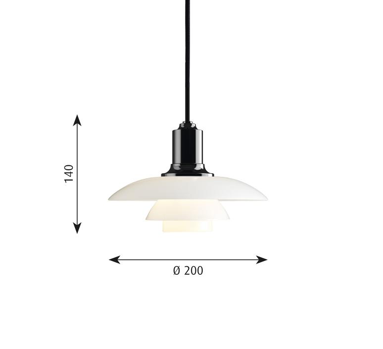 Ph 2 1 suspension   suspension pendant light  louis poulsen 5741099252  design signed 58468 product