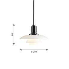 Ph 2 1 suspension   suspension pendant light  louis poulsen 5741099252  design signed 58468 thumb
