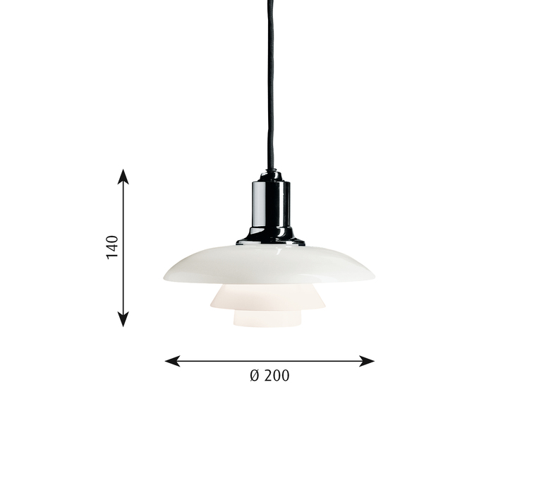 Ph 2 1 suspension   suspension pendant light  louis poulsen 5741084908  design signed 58465 product