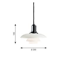 Ph 2 1 suspension   suspension pendant light  louis poulsen 5741084908  design signed 58465 thumb